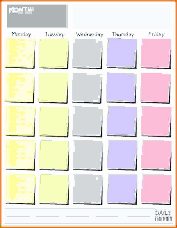 Blank Monday Through Friday Calendar Beautiful Printable Blank Calendars Templates Monday Through Friday