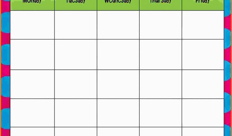 Blank Monday Through Friday Calendar Best Of Free Printable Blank Calendar Monday Through Friday 2018