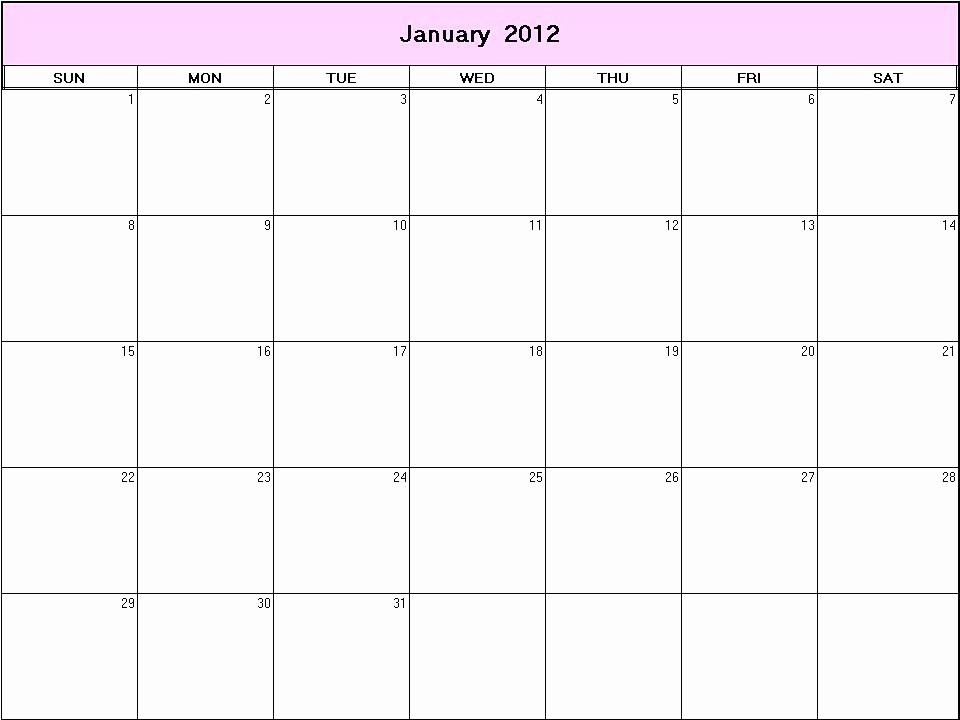 Blank Monday Through Friday Calendar Best Of Printable Blank Calendars Templates Monday Through Friday