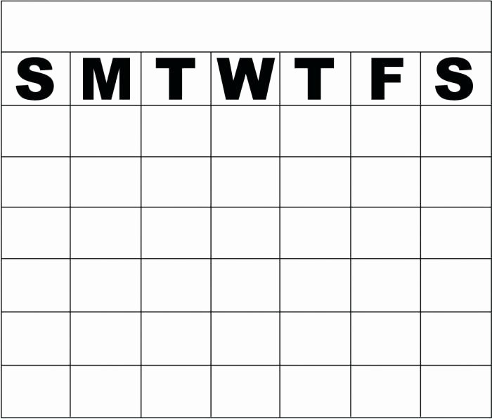 Blank Monday Through Friday Calendar Inspirational Monday Friday Calendar Template Blank Through with