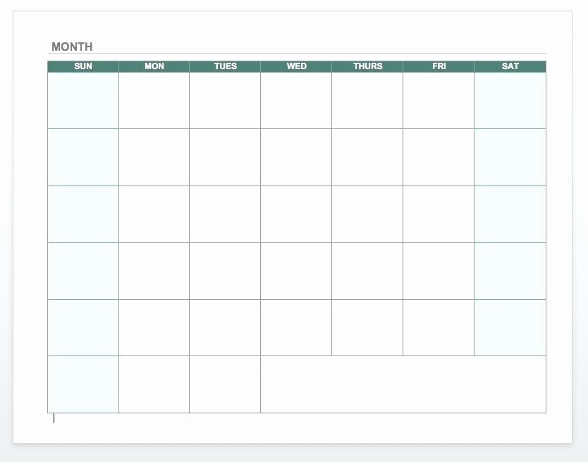 Blank Monday Through Friday Calendar Lovely Blank Monday Through Friday Printable Calendar Grid