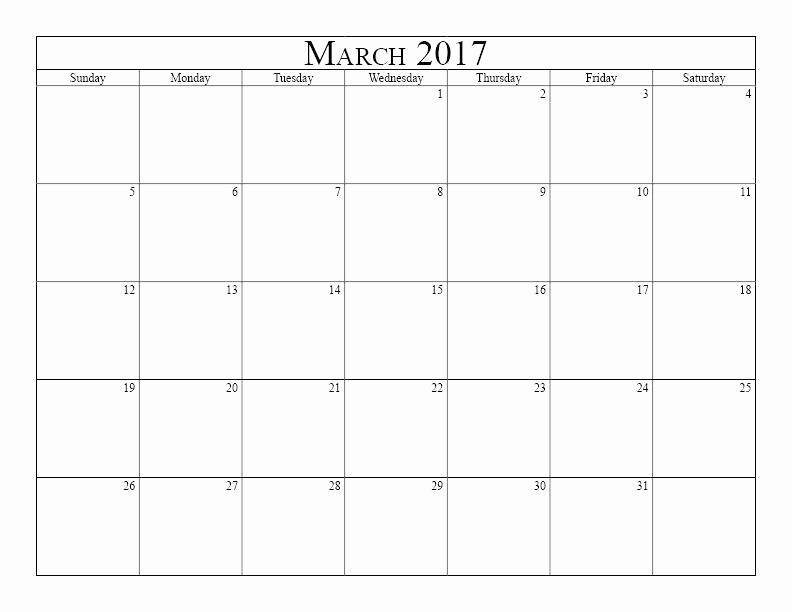Blank Monday Through Friday Calendar Luxury Blank Monday Through Friday Printable Calendar March