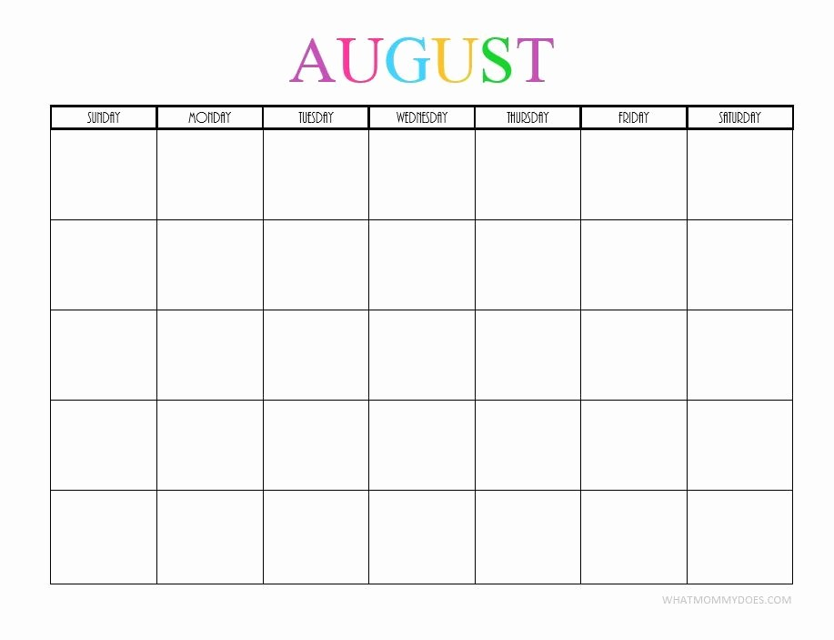 Blank Monthly Calendar 2017 Printable Beautiful Free Printable Blank Monthly Calendars 2017 2018 2019