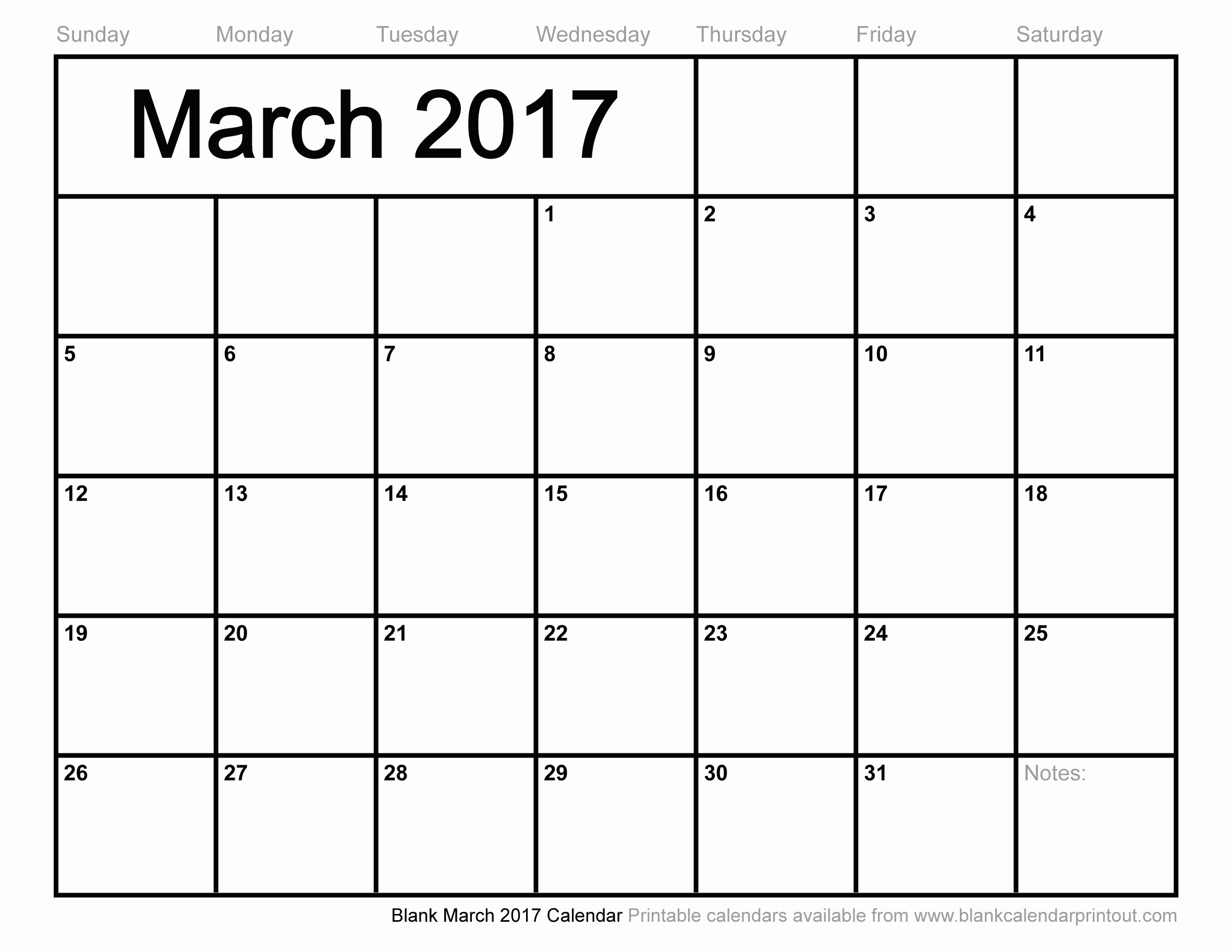 Blank Monthly Calendar 2017 Printable Best Of Blank March 2017 Calendar to Print