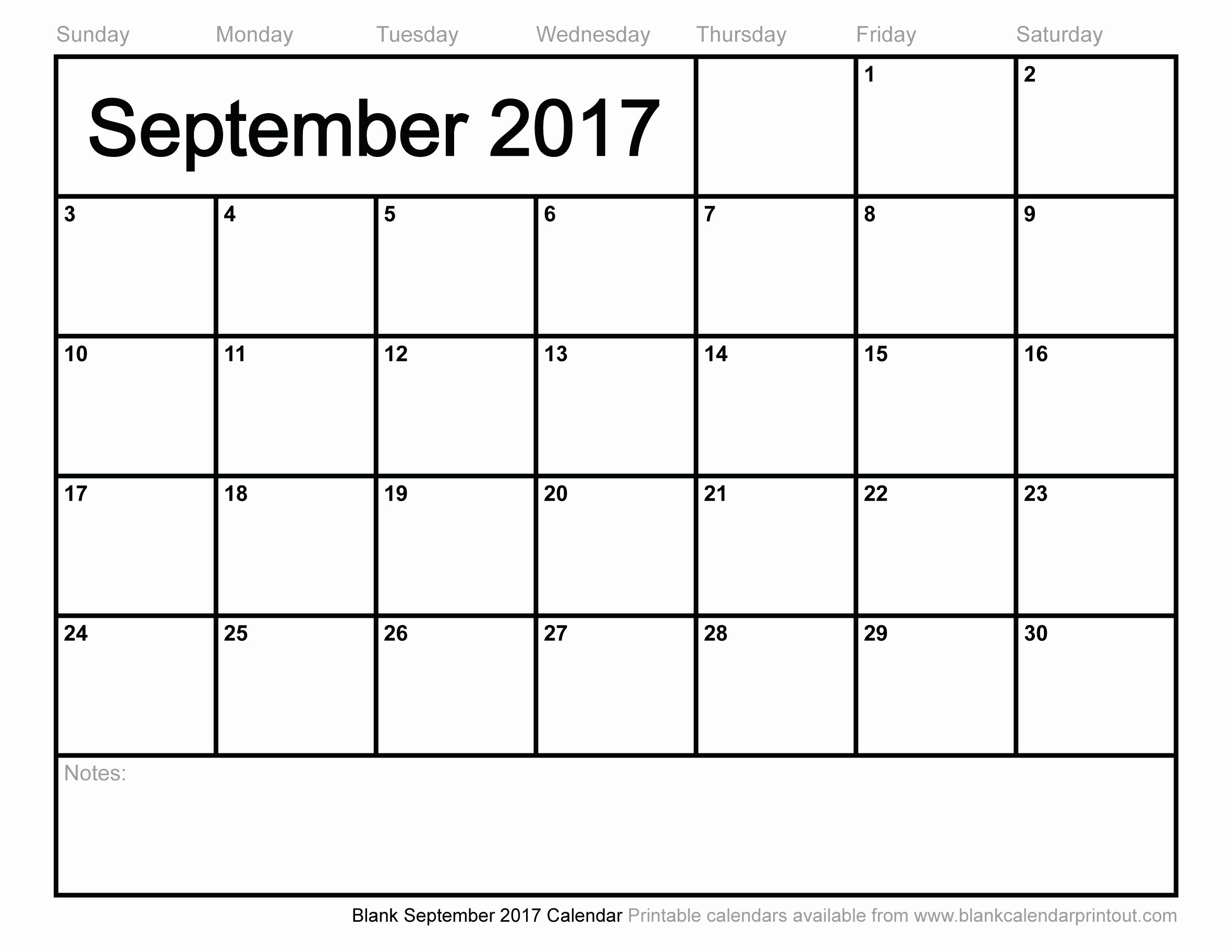 Blank Monthly Calendar 2017 Printable Inspirational Blank September 2017 Calendar to Print