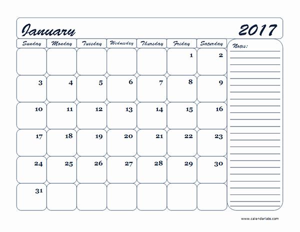 Blank Monthly Calendar 2017 Printable Lovely 2017 Monthly Blank Calendar Template Free Printable