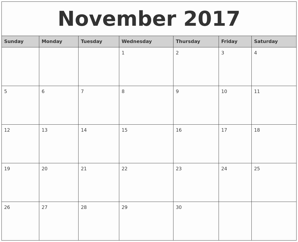 Blank Monthly Calendar 2017 Printable Lovely Free Printable Blank Monthly Calendars 2017 2018 2019