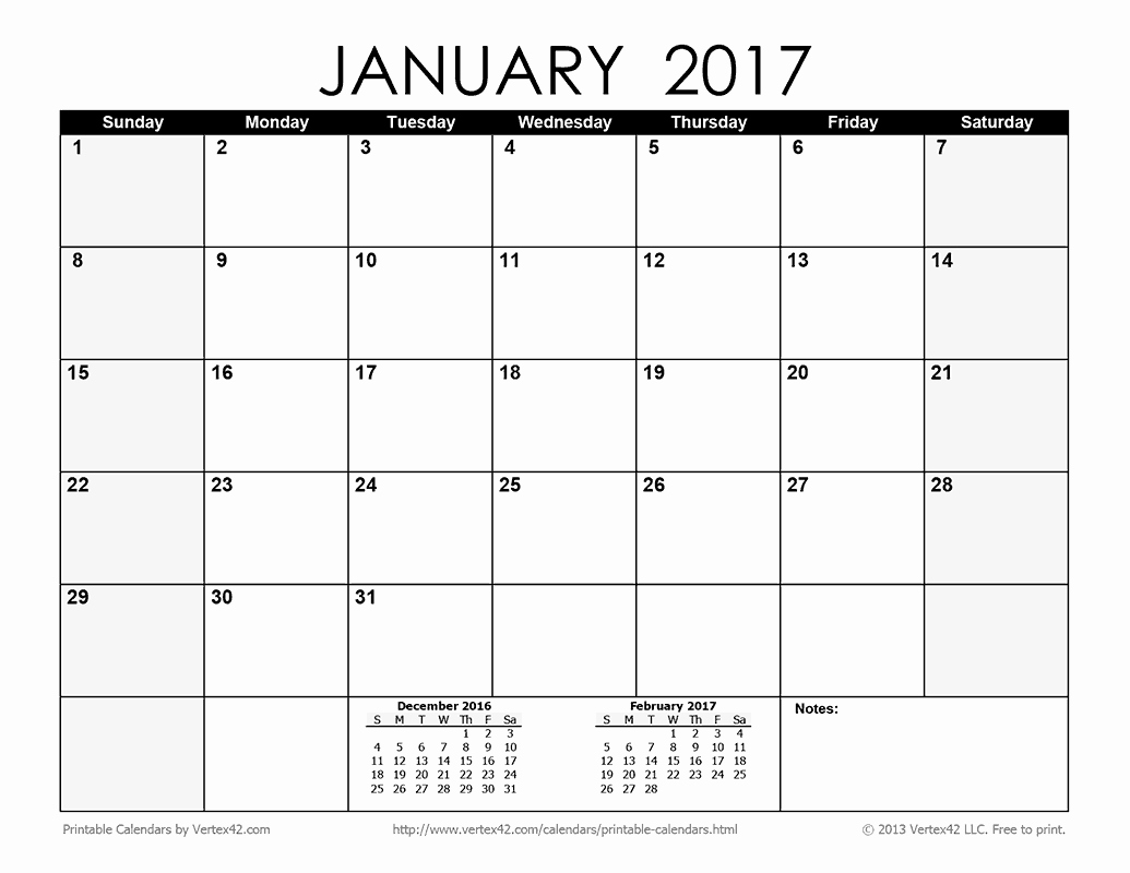 Blank Monthly Calendar 2017 Printable New Download the Printable Monthly 2017 Calendar