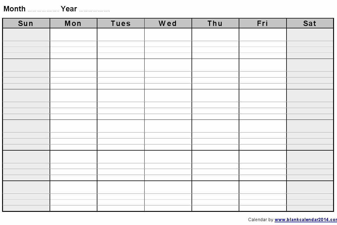 Blank Monthly Calendar 2017 Printable Unique 2017 Pdf Monthly Blank Calendars