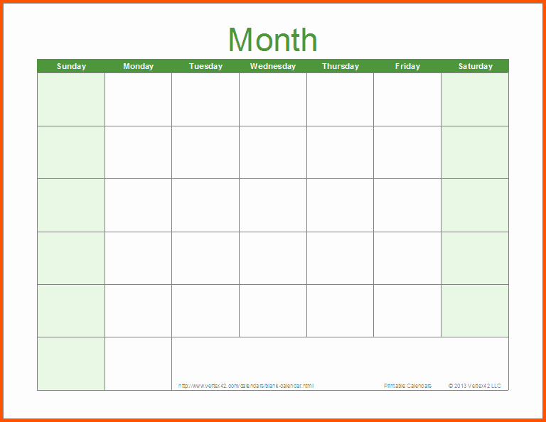 Blank Monthly Calendar Template Word Beautiful Word Calendar Sample