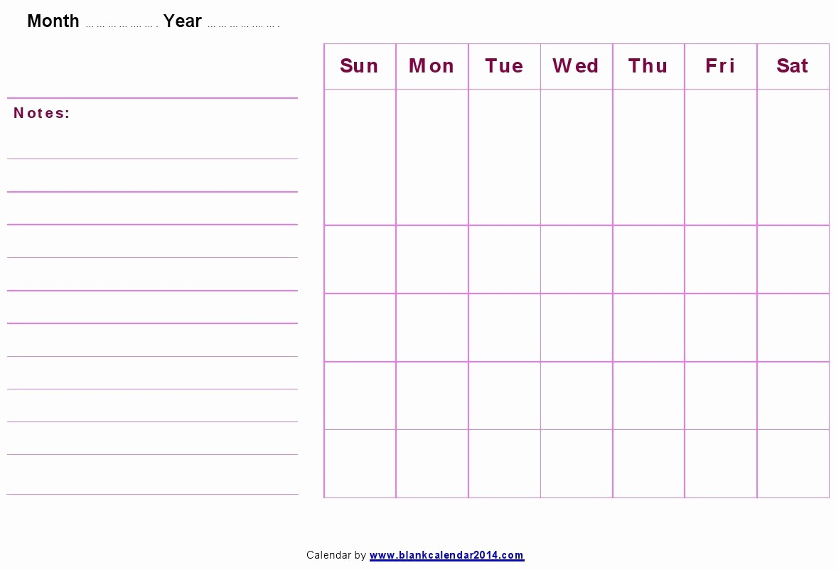 Blank Monthly Calendar Template Word Fresh Blank Monthly Calendar Template Word