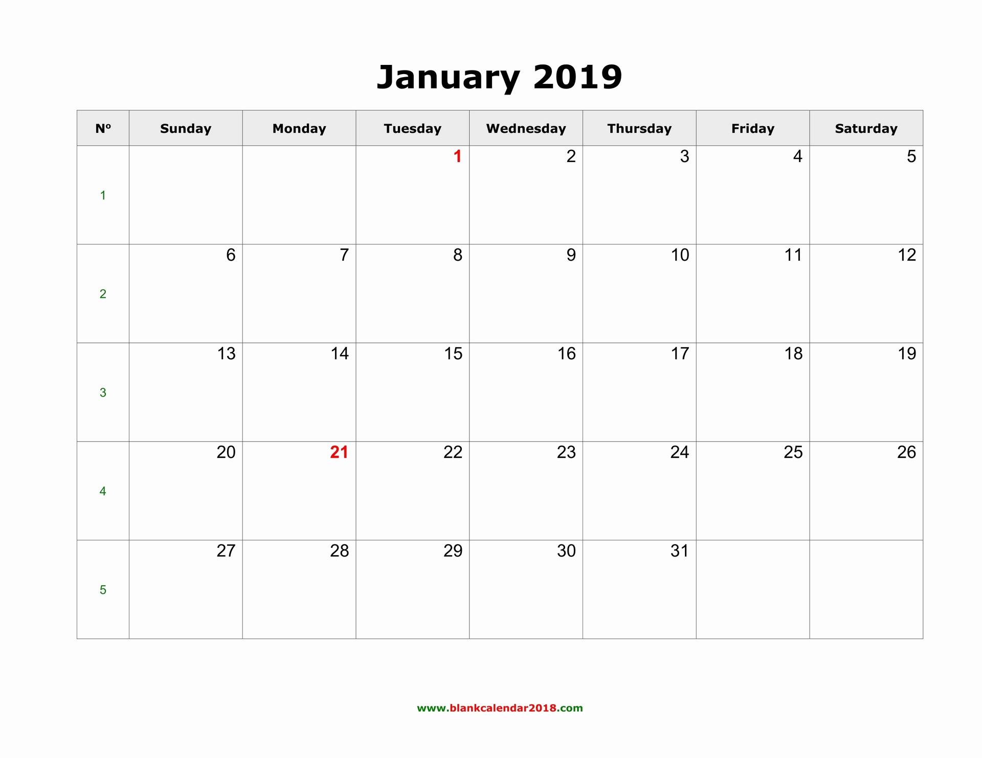 Blank Monthly Calendar Template Word Inspirational Blank Calendar 2019