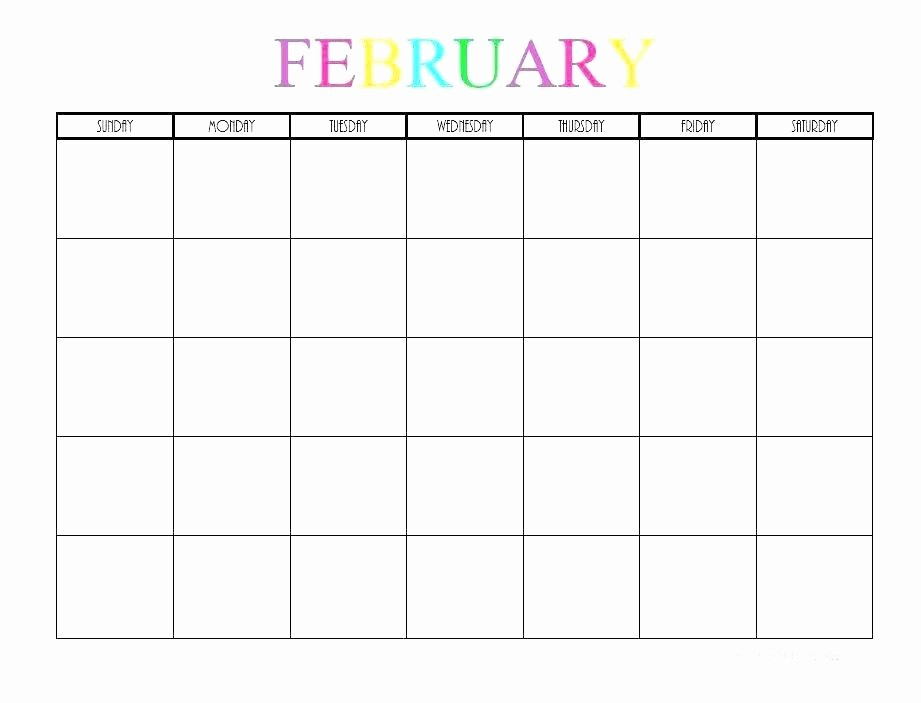 Blank Monthly Calendar Template Word New Blank Monthly Calendar Template Word