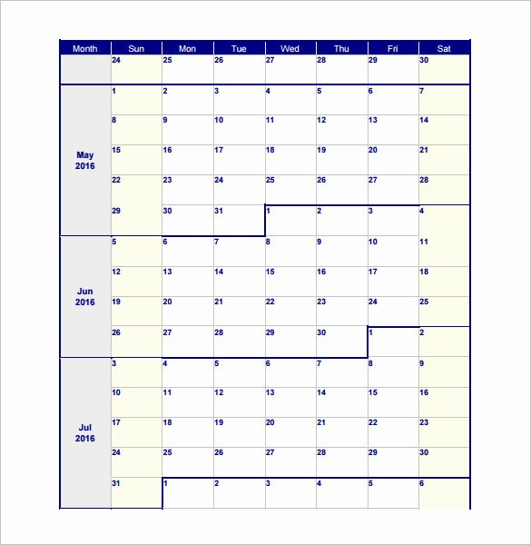 Blank Monthly Work Schedule Template Awesome 6 Blank Work Schedule Template Free Download