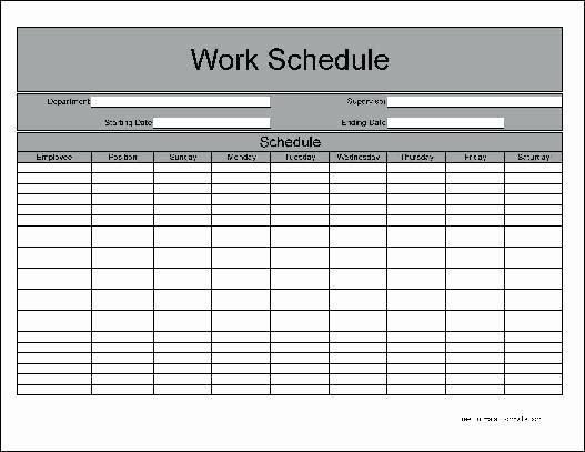 Blank Monthly Work Schedule Template Fresh Blank Work Schedule Maker Employee Shift Template Free
