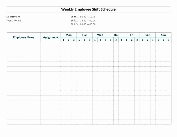 Blank Monthly Work Schedule Template Inspirational Work Schedule Calendar Template Excel Blank Weekly Ndar
