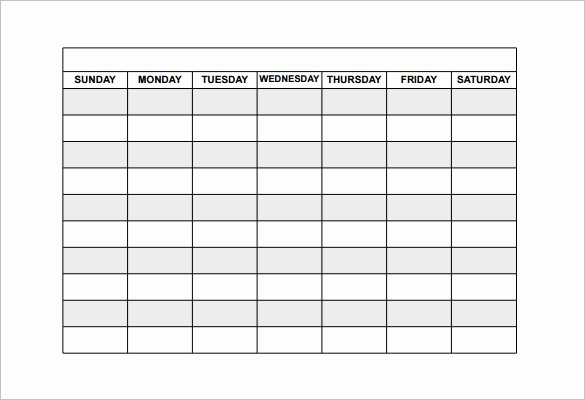 Blank Monthly Work Schedule Template Luxury Free Employee Schedule Template – Printable Calendar Templates