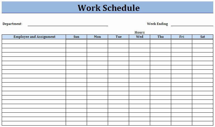 Blank Monthly Work Schedule Template New 8 Best Of Printable Weekly Employee Schedule Sheets