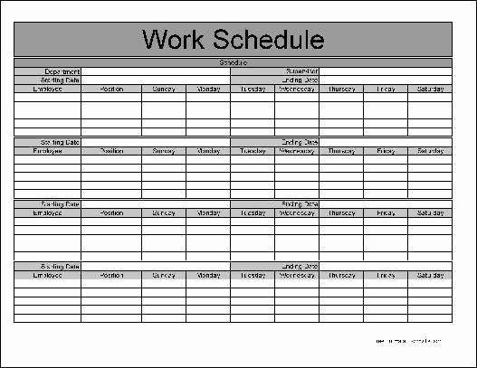 Blank Monthly Work Schedule Template Unique 9 Best Of Printable Monthly Schedule Printable