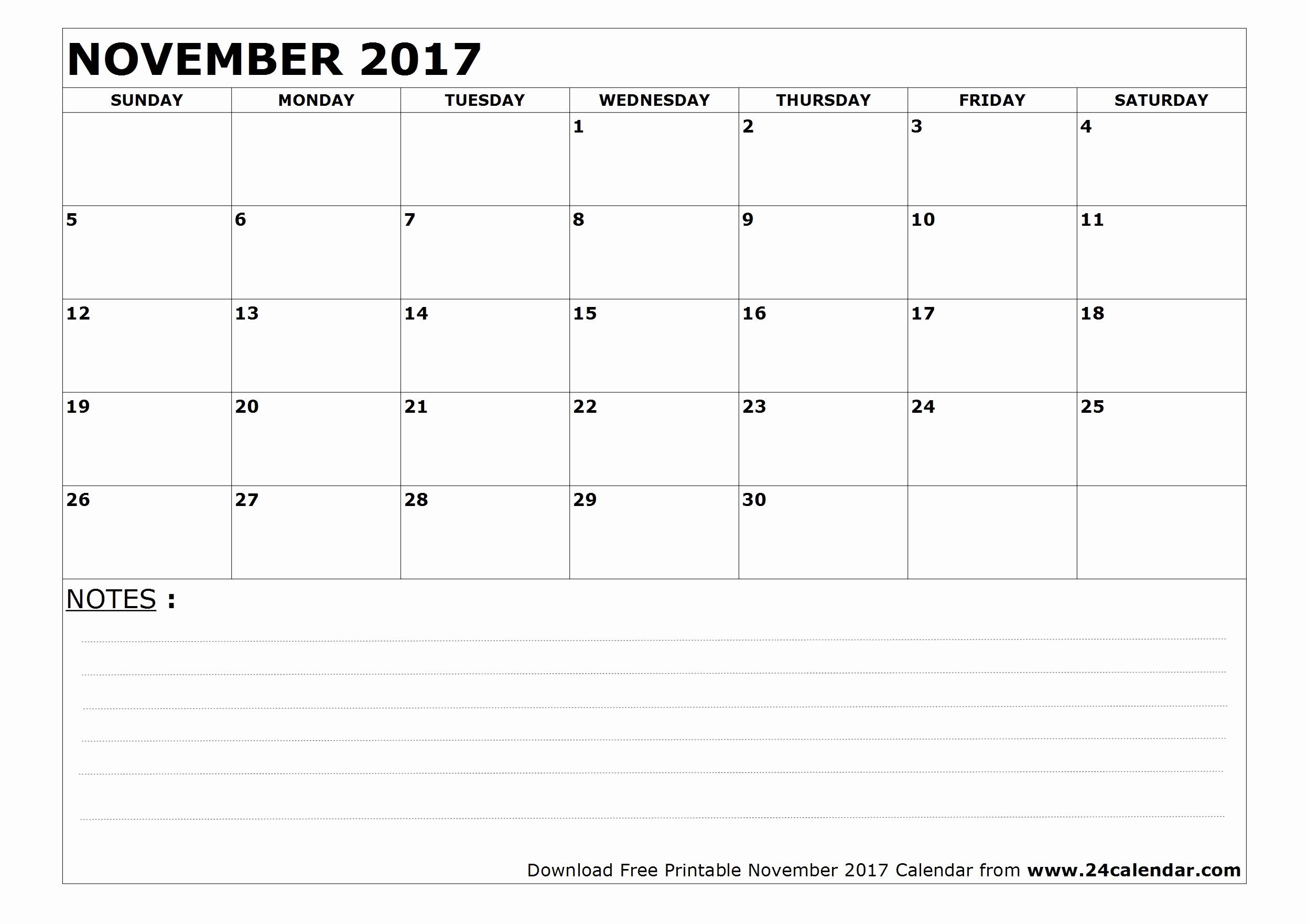 Blank November 2017 Calendar Template Best Of Blank November 2017 Calendar In Printable format