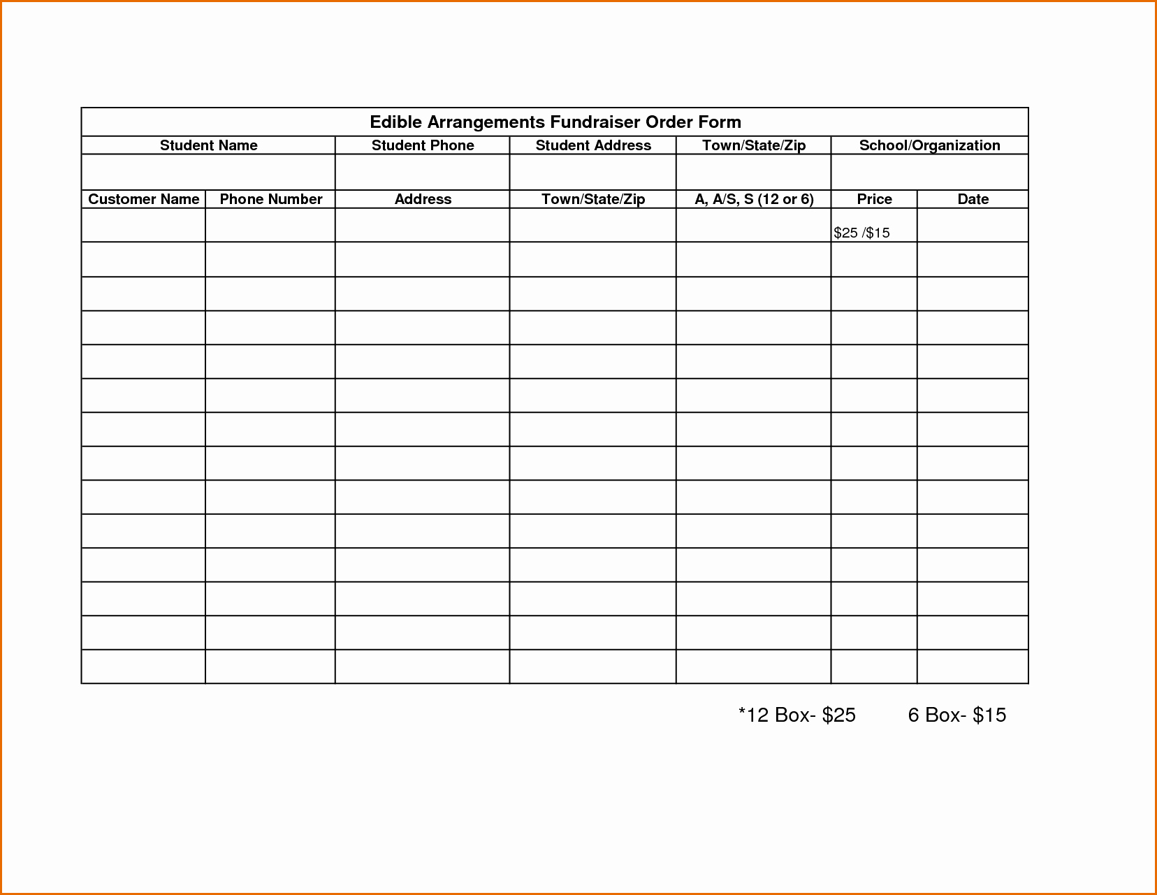 Blank order form Template Word Beautiful Fundraising forms Templates Free Sample Business Loan