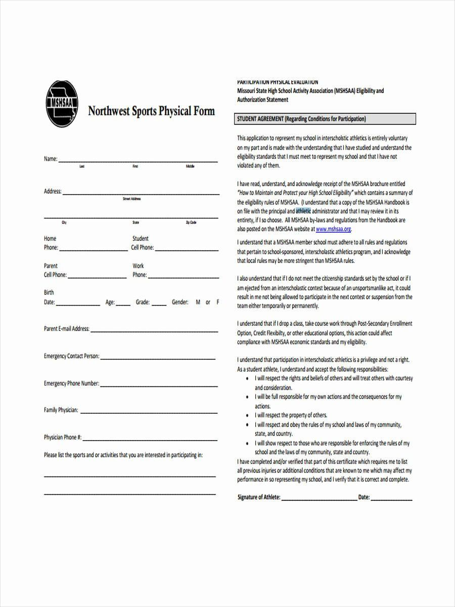 Blank P&l form Fresh Blank Physical form 8 Free Documents In Word Pdf