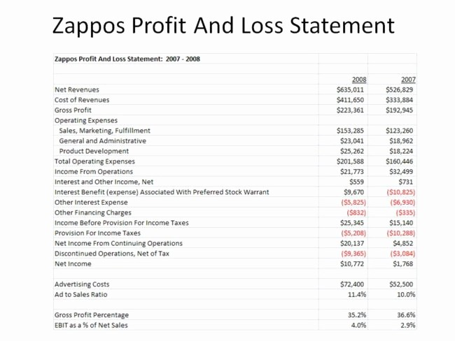Blank P&l Statement New Nice Profit and Loss Statement form with Simple Table and