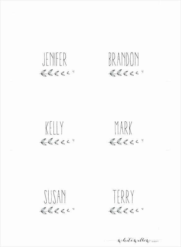 Blank Place Card Template Word Beautiful Table Name Cards Template Table Name Cards Template Free