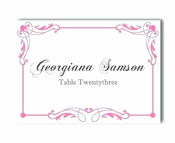 Blank Place Card Template Word Lovely Name Card Template Free Sample Example format Download