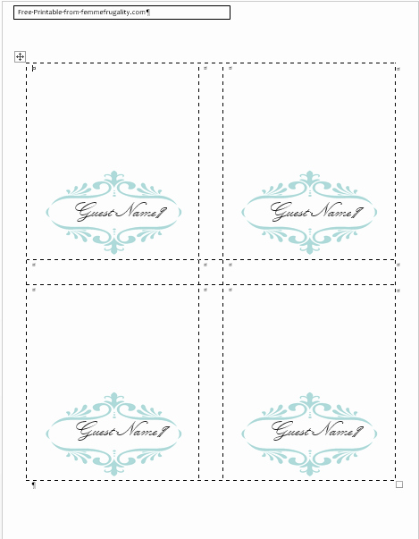 Blank Place Card Template Word New How to Make Your Own Place Cards for Free with Word and