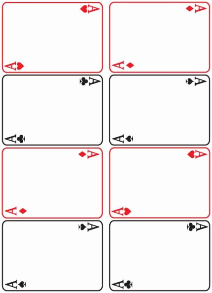 Blank Playing Card Template Word Beautiful 8 Best Of Blank Playing Card Printable Template for