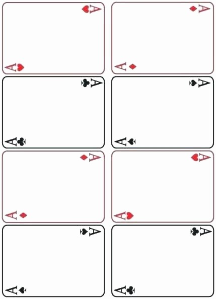 Blank Playing Card Template Word Fresh Pledge Card Template Sample Templates for Weddings