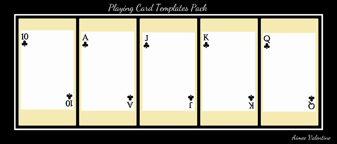 Blank Playing Card Template Word New Best S Of Playing Card Templates for Word Playing