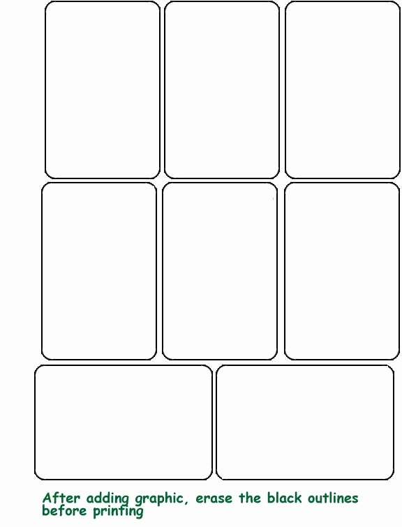 Blank Playing Card Template Word New Playing Card Template