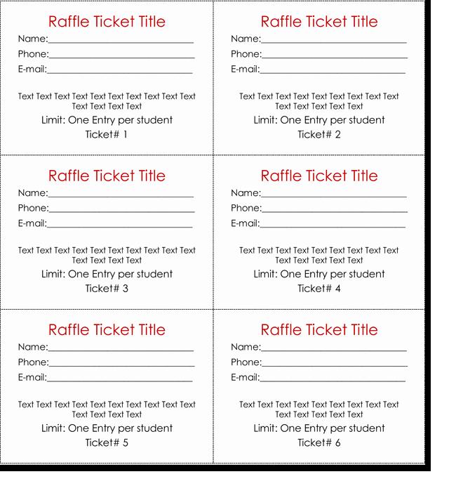 Blank Raffle Ticket Template Free Beautiful 20 Free Raffle Ticket Templates with Automate Ticket