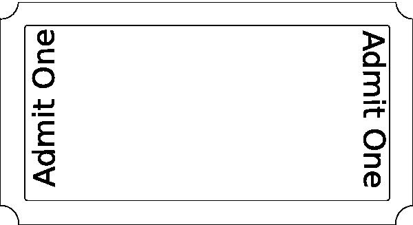Blank Raffle Ticket Template Free Elegant Blank Ticket Full Size Paper Clip Art at Clker
