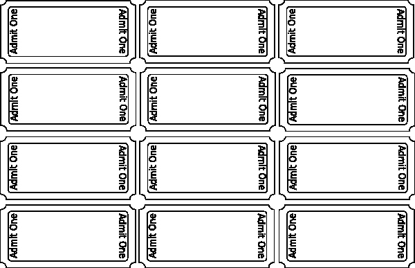 Blank Raffle Ticket Template Free Fresh Blank Tickets Clip Art at Clker Vector Clip Art