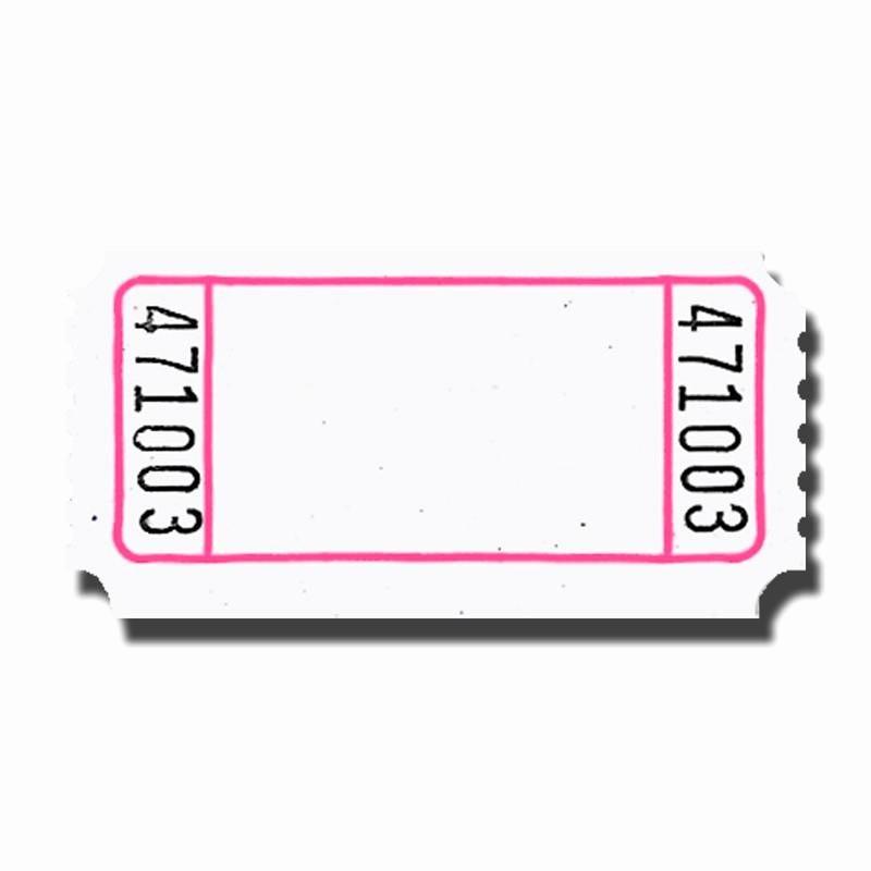 Blank Raffle Ticket Template Free Inspirational Blank Roll Tickets Doolins