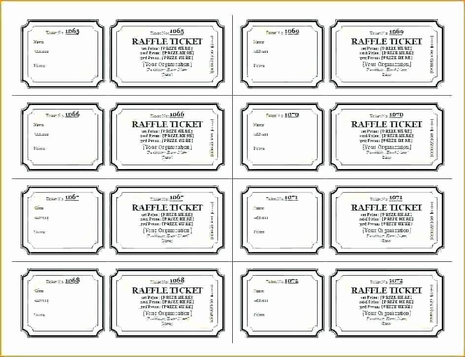 Blank Raffle Ticket Template Free Luxury Free Ticket Printing Printable Template Blank Tickets