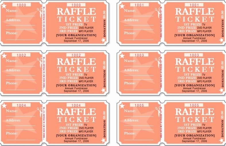 Blank Raffle Ticket Template Free Unique 18 Sample Printable Raffle Ticket Templates Psd Ai