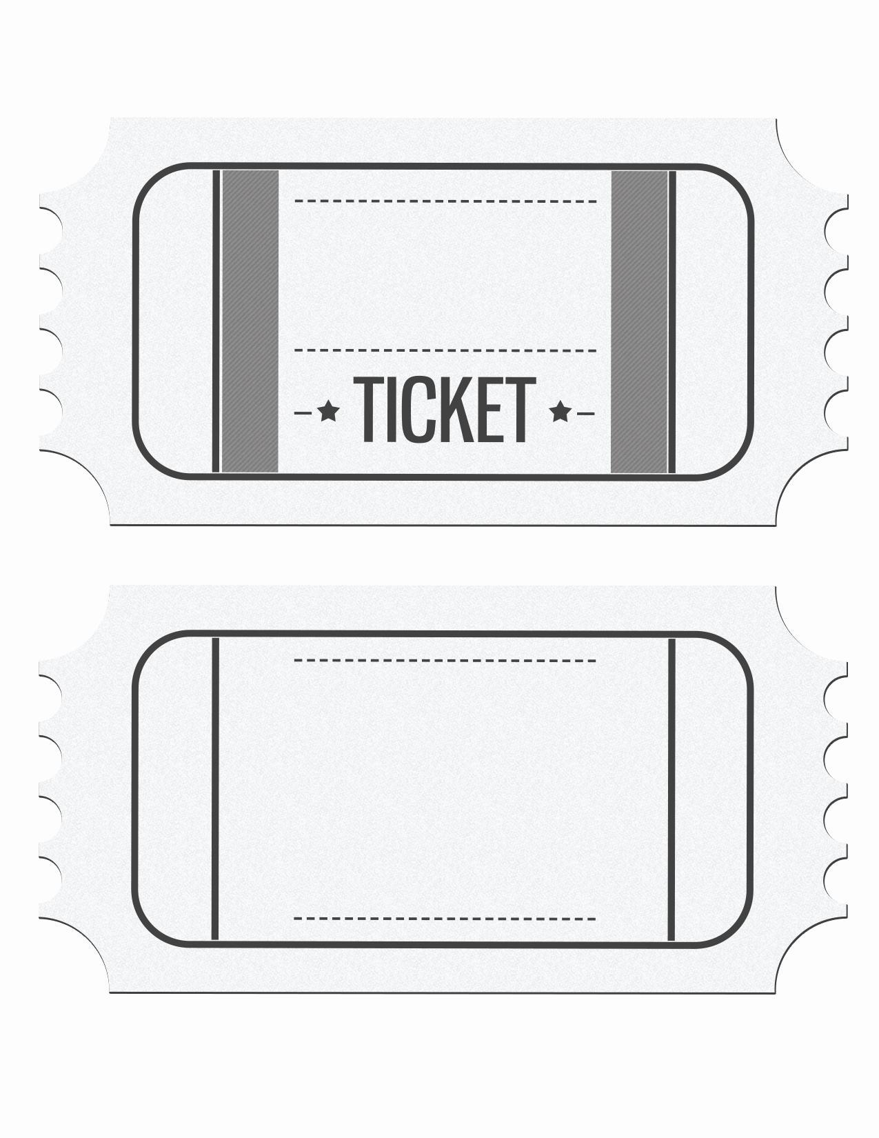 Blank Raffle Ticket Template Free Unique Raffle Tickets Template Word Bamboodownunder