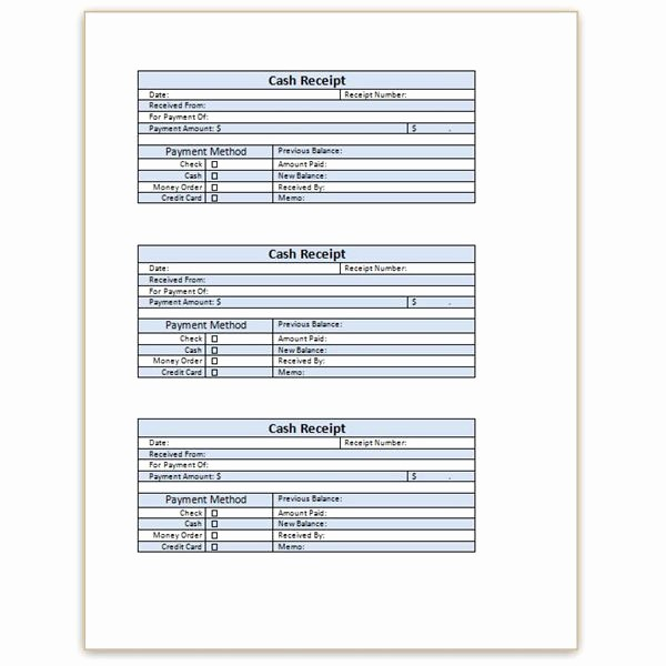 Blank Receipt Template Microsoft Word Awesome Download A Free Cash Receipt Template for Word or Excel