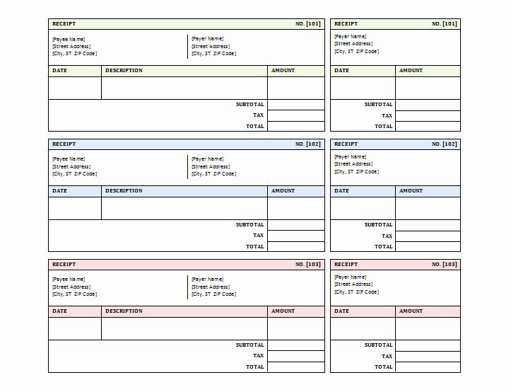 Blank Receipt Template Microsoft Word Inspirational 12 Free Sales Receipt Templates Word Excel Pdf