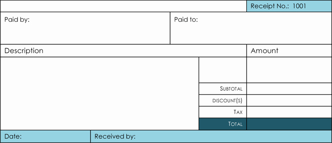 Blank Receipt Template Microsoft Word Unique 17 Free Cash Receipt Templates for Excel Word and Pdf