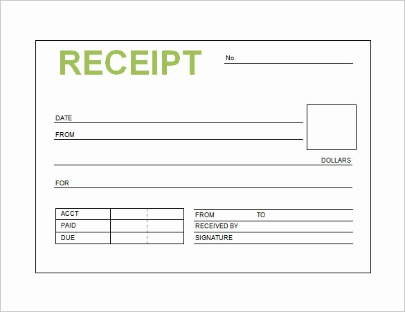 Blank Receipt Template Microsoft Word Unique Receipt Template Doc for Word Documents In Different Types