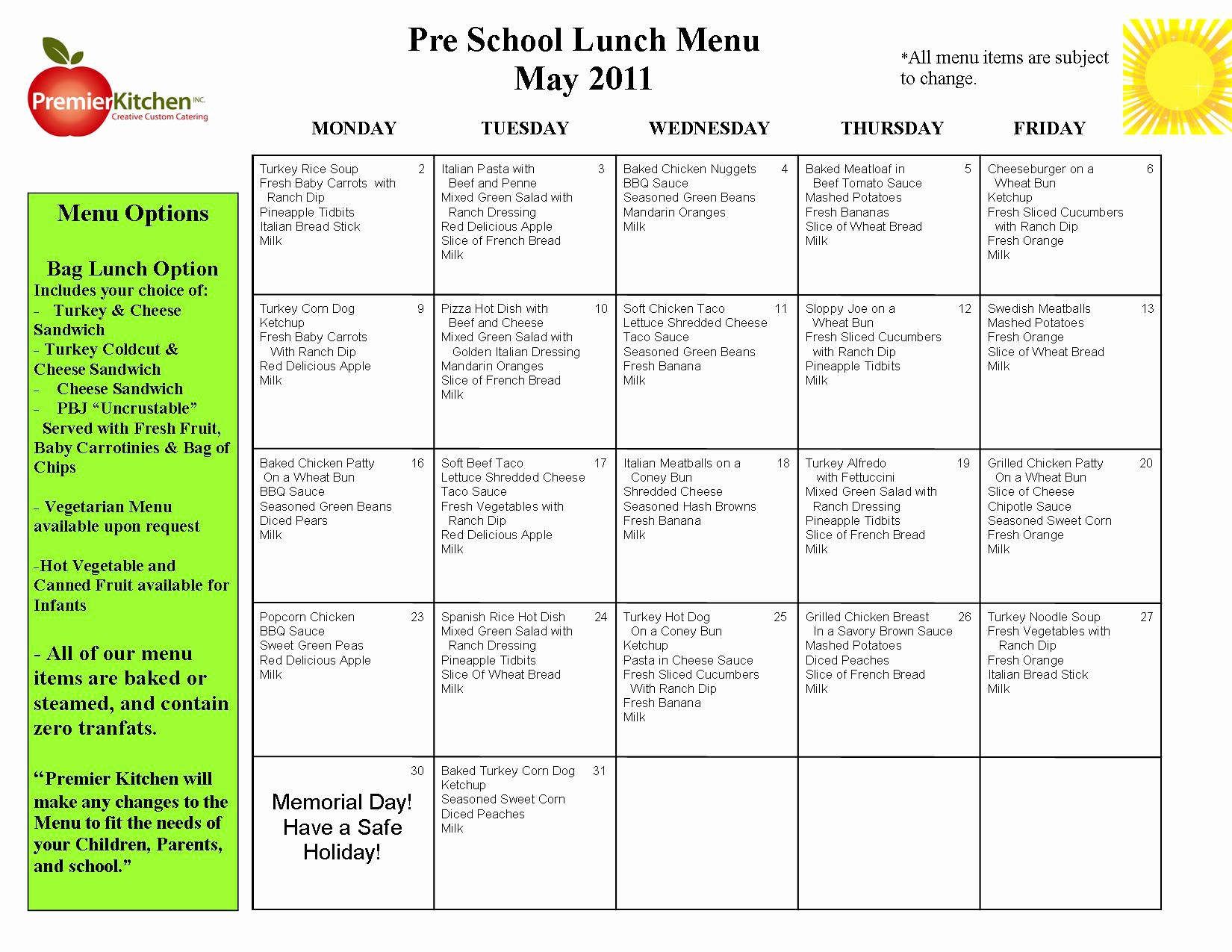 Blank School Lunch Menu Template Beautiful Printable Blank Day Care Menus to Pin On