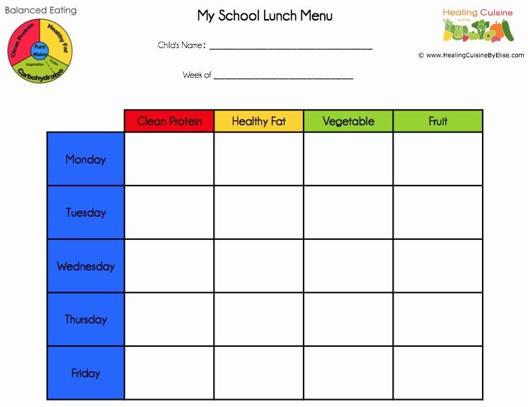 Blank School Lunch Menu Template Elegant Blank School Lunch Menu Template Templates Resume