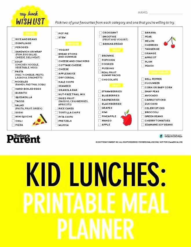 Blank School Lunch Menu Template Elegant School Lunch Menu Template