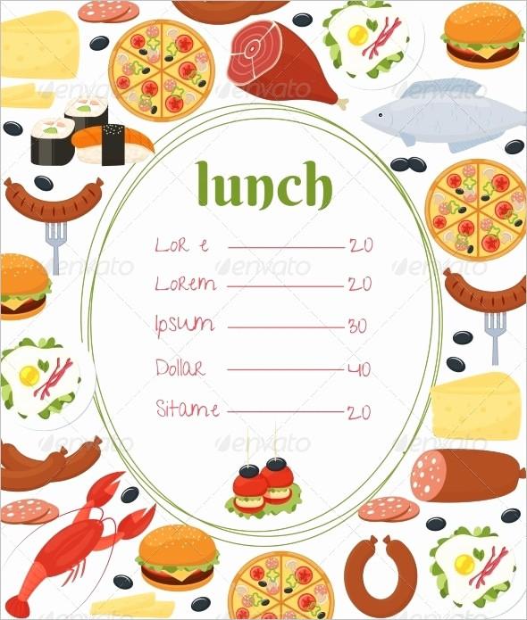 Blank School Lunch Menu Template Fresh Blank School Lunch Menu Template Templates Resume