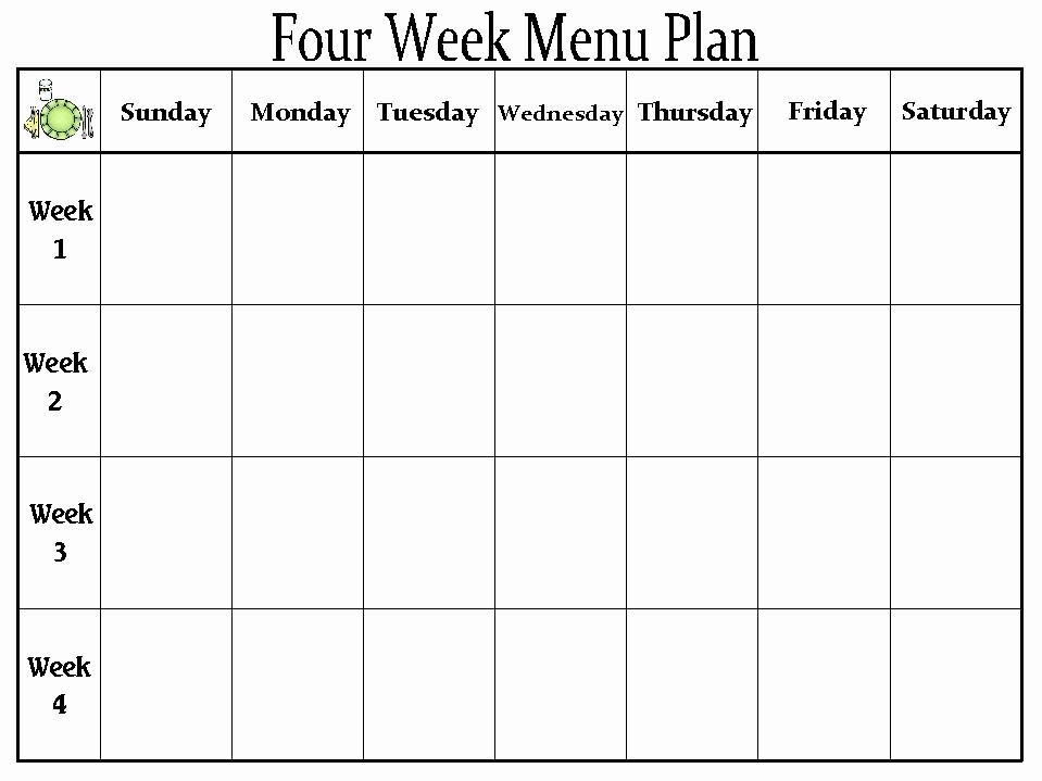 Blank School Lunch Menu Template Fresh the Creative Homemaker My organized Home Part 2 Meal Prep